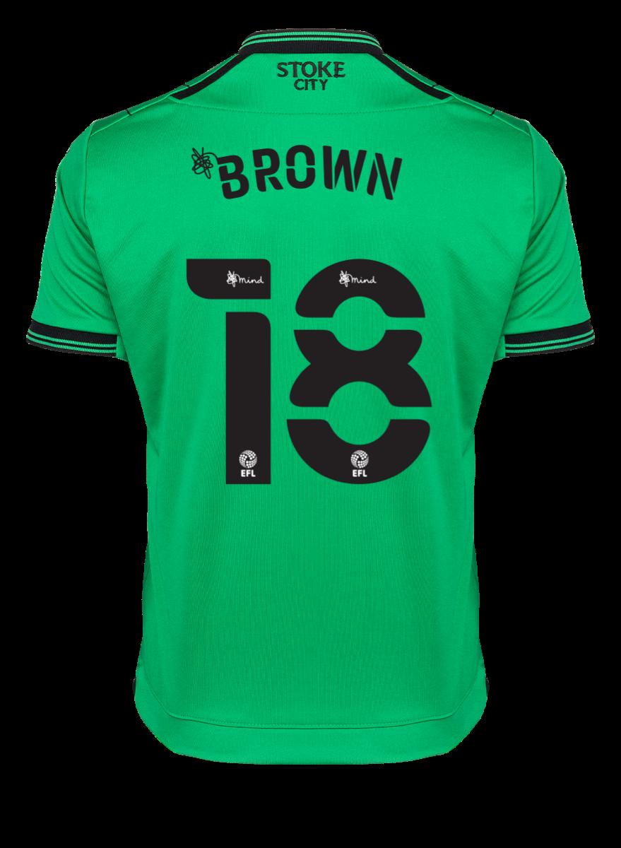 2021/22 Junior Away SS Shirt - Brown