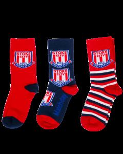 3 Pack Kids Socks