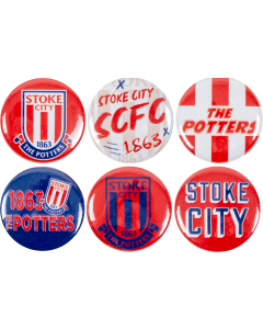 6 Pack Button Badges