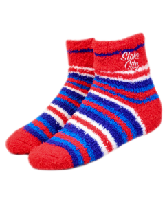 Ladies Fluffy multi stripe sock