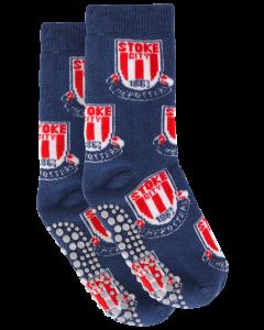 Kids Multi Crest Slipper Sock