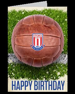 Retro Football Birthday Card