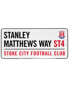 Stanley Matthews Way Street Sign