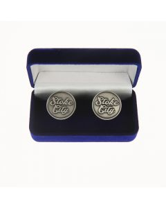 Stoke City Stamped Cufflinks