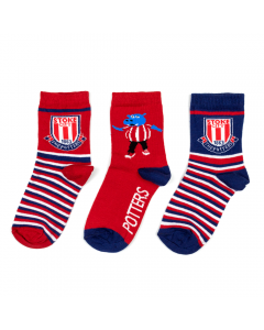 Kids 3 pack stripe & Pottermus Sock