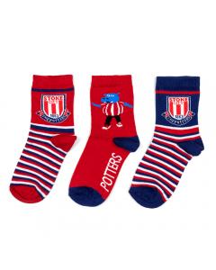 Kids 3 pack stripe & Pottermus Sock