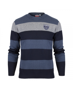 Multi Stripe Knot Crew Jumper
