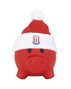 Piggy Bank with woolly hat