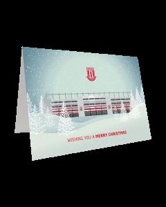 Snowy Stadium Christmas Card