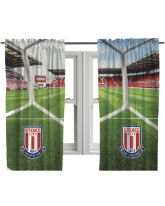 "Stadium Print Curtain 72"" Drop"