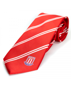Trigger Red & White Stripe Tie