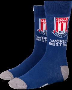 Worlds Best Dad Sock NAVY SHOE SIZE 7-11