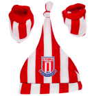 Striped Kit Hat And Boot Set