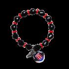 Black Beaded Charm Bracelet BLACK ONE SIZE