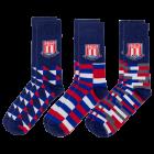 3 pack block pattern socks