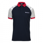 Adult Stoke City Sleeve Stripe Polo - Navy